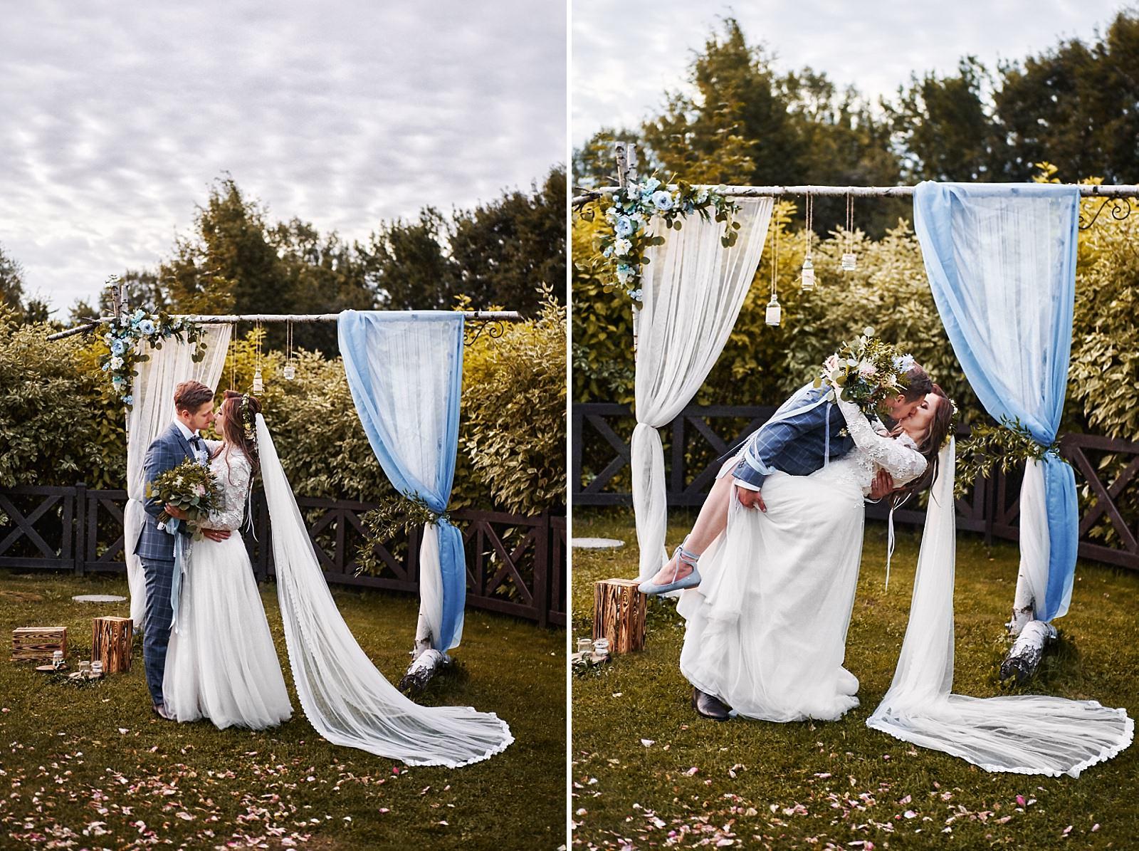 rustykalne dekoracje do ślubu cywilnego