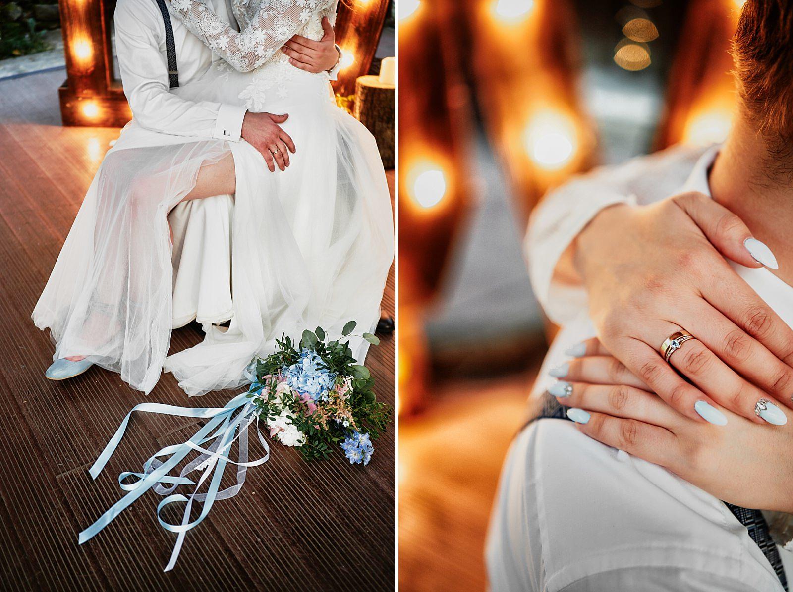 rustykalny bukiet na ślub